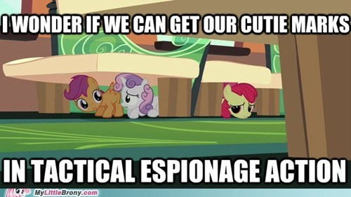 cmc,espionage,charming tag campaigners,metal gear solid,cutie mark crusaders