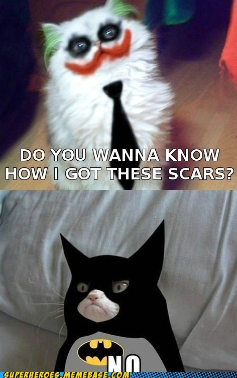 joker batman Grumpy Cat