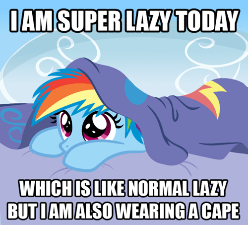 cape lazy cute rainbow dash - 7014832896