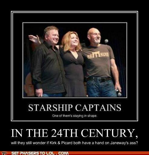 kate mulgrew starship captain Star Trek William Shatner patrick stewart - 7014996480