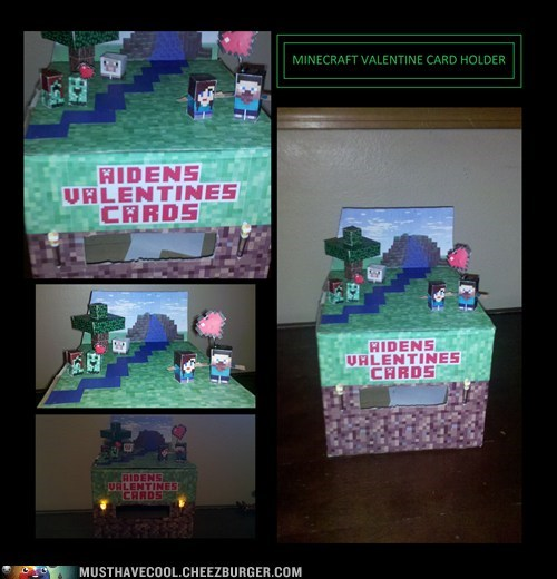 Minecraft Valentine Card Holder Must Have Cool Cool Collectible