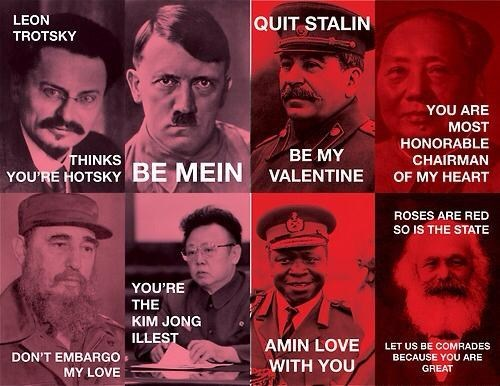 dictators,pick-up lines,Valentines day,dating fails