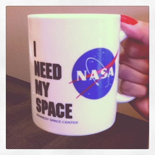 nasa coffee mug i need my space monday thru friday g rated