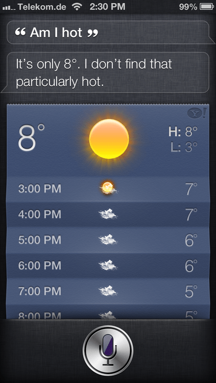 attractive weather siri am i hot - 7016652800