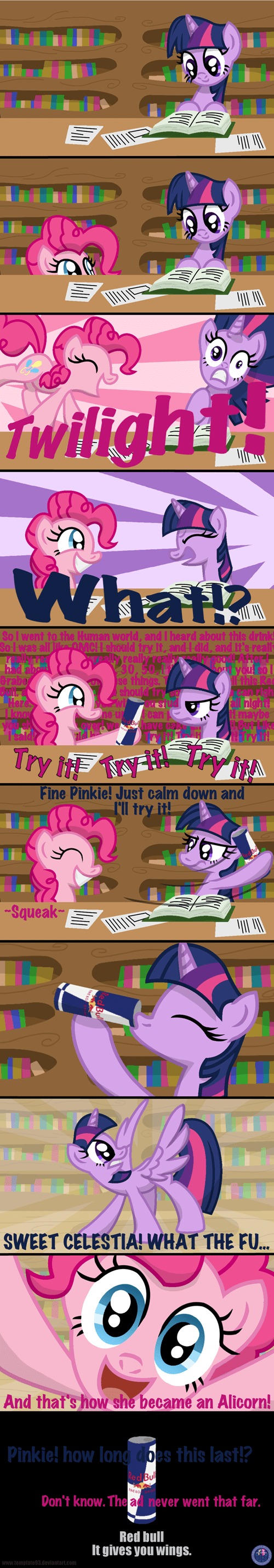 alicorn,red bull,comics,princess twilight