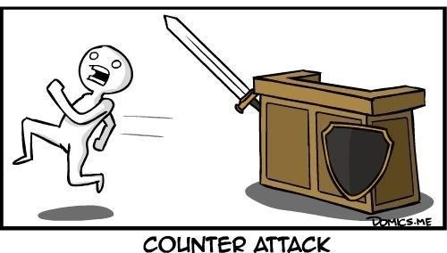 counter attack counterattack literalism pun - 7016786944