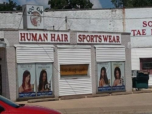 human hair,sportswear,store