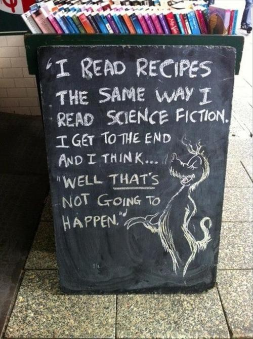 recipes,sign,science fiction,School of FAIL,g rataed