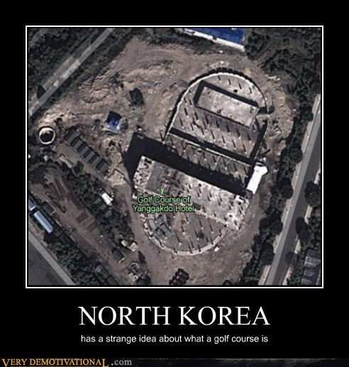 golf course,strange,North Korea