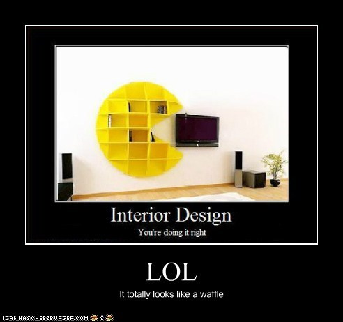 LOL It totally looks like a waffle