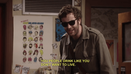 alcohol,drunk,the IT crowd