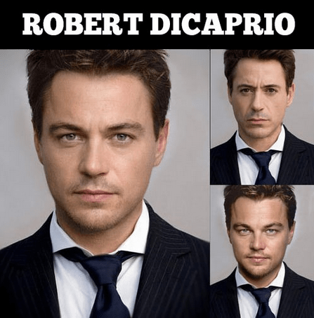 actor,face swap,funny,leonardo dicaprio,robert downey jr