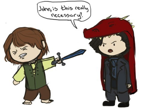 crossover The Hobbit Sherlock - 7017033472