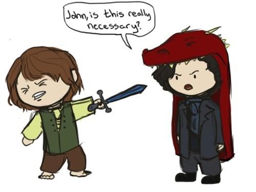 crossover The Hobbit Sherlock - 7017033472