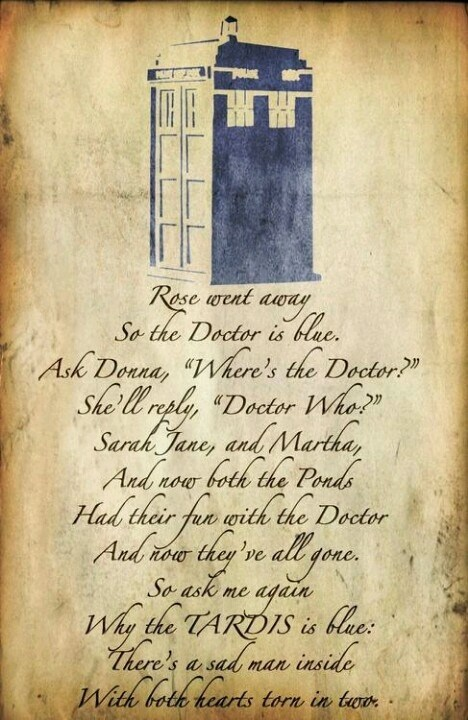 rhyme poem feels tardis doctor who