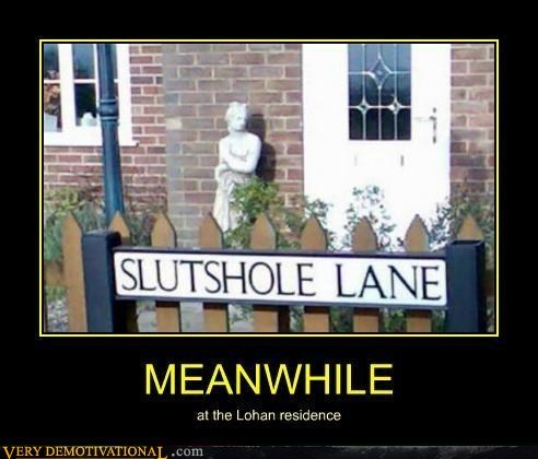 street,wtf,house,lindsay lohan