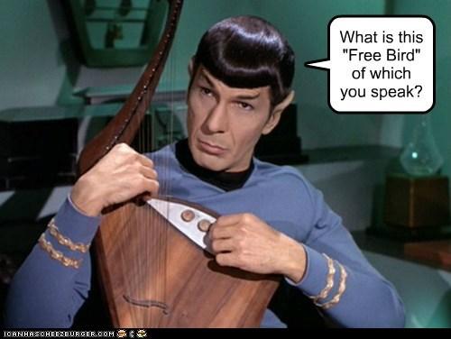 Music harp Spock Leonard Nimoy Star Trek free bird - 7017193216