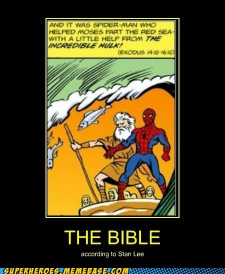 Spider-Man,bible,moses,stan lee
