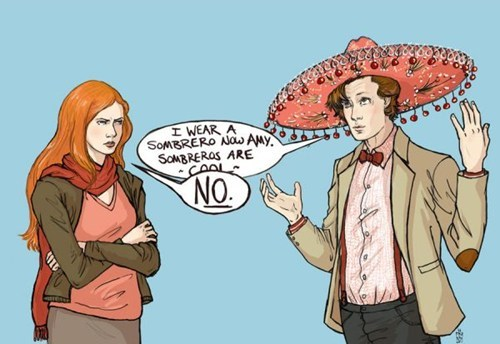 amy pond comic doctor who cool Fan Art no sombrero hats the doctor - 7017202944