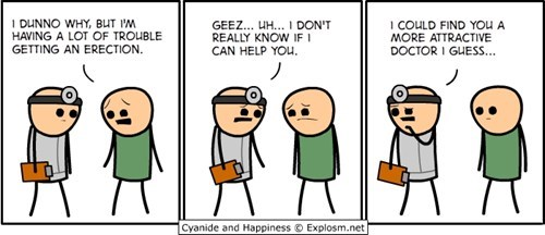 erection,no hope,cyanide and happiness,doctor,comics