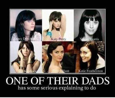 cute,famous,katy perry,look alikes,zooey deschanel,stars