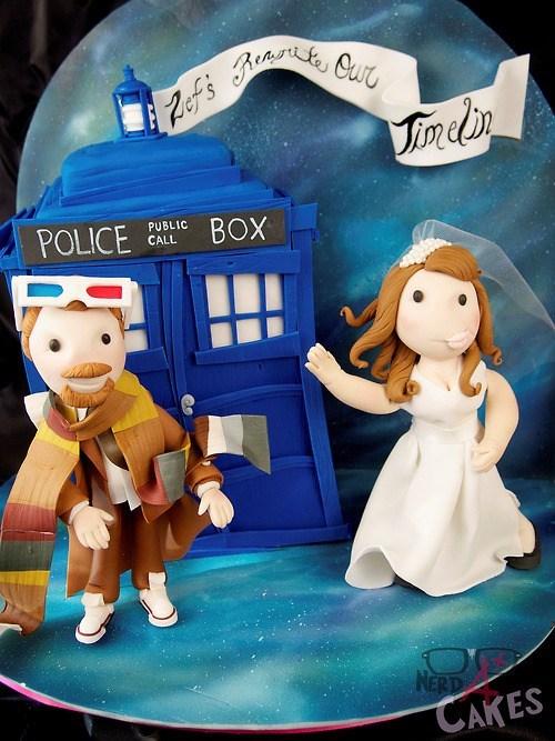 cake doctor who proposal tardis - 7017285888