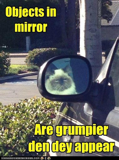 Objects in mirror Are grumpier den dey appear Chech1965 290113