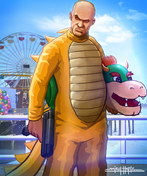 art,bowser,Grand Theft Auto,crossover,mario