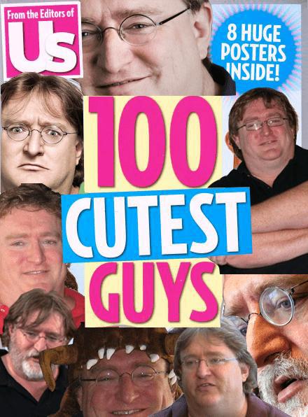 valve,pictures,gabe newell,cutest guys,magazine,gaben