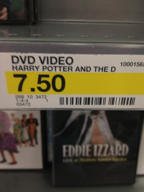 Harry Potter whoops label THE D