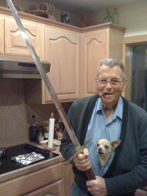 BAMF dangerous old people rock sword g rated win
