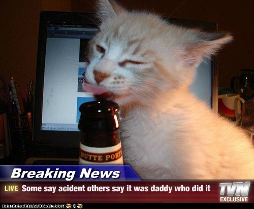 Breaking News - Some say acident others say it was daddy who did it