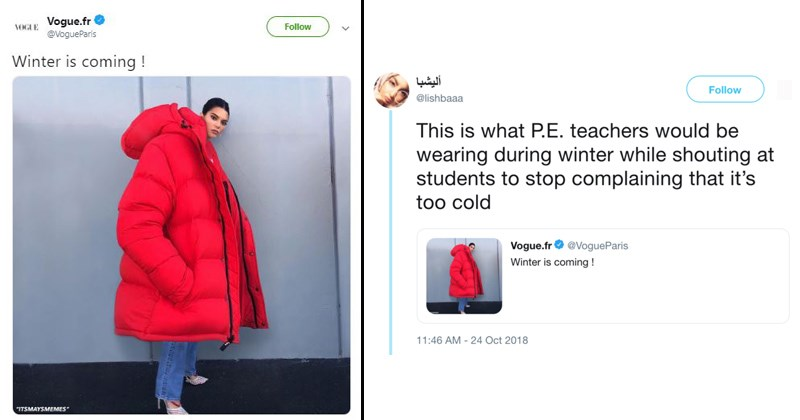 kendall jenner roasted for giant red coat