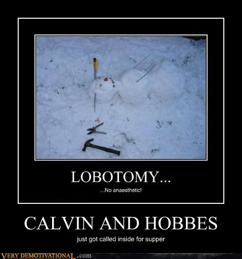 snow man,lobotomy,calvin & hobbes