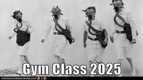 gas masks,PE,workout,gym glass
