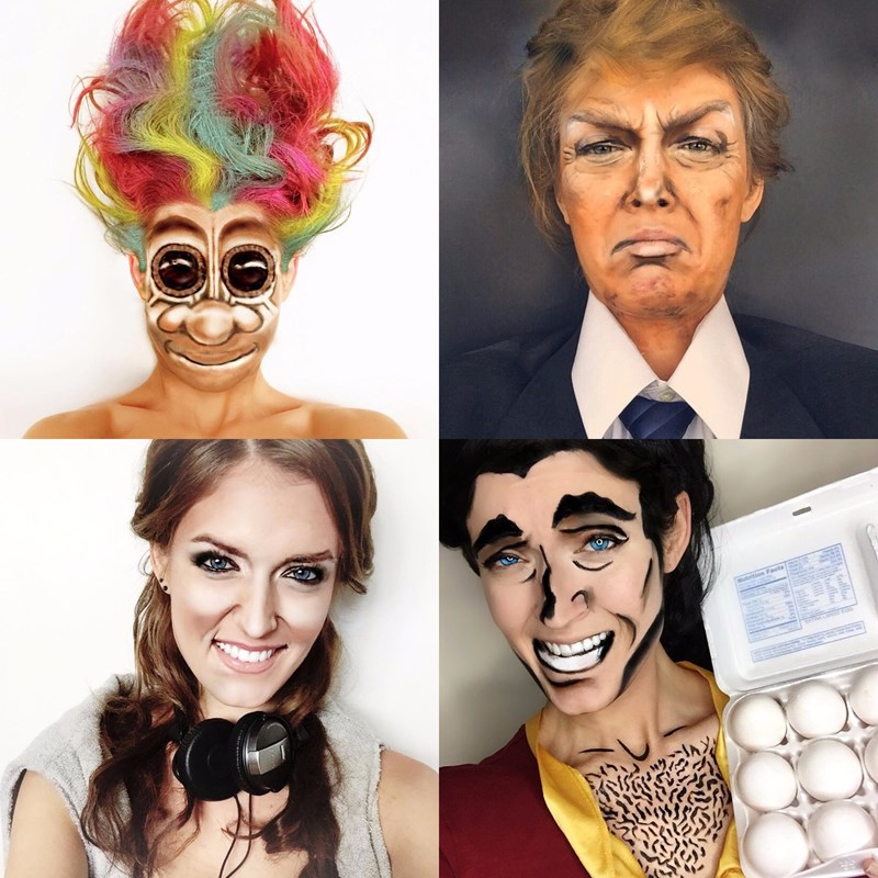 This Artist's Makeup Impressions are on Point