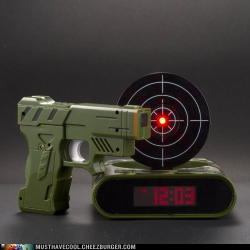 guns,alarm clock,tricky,targets