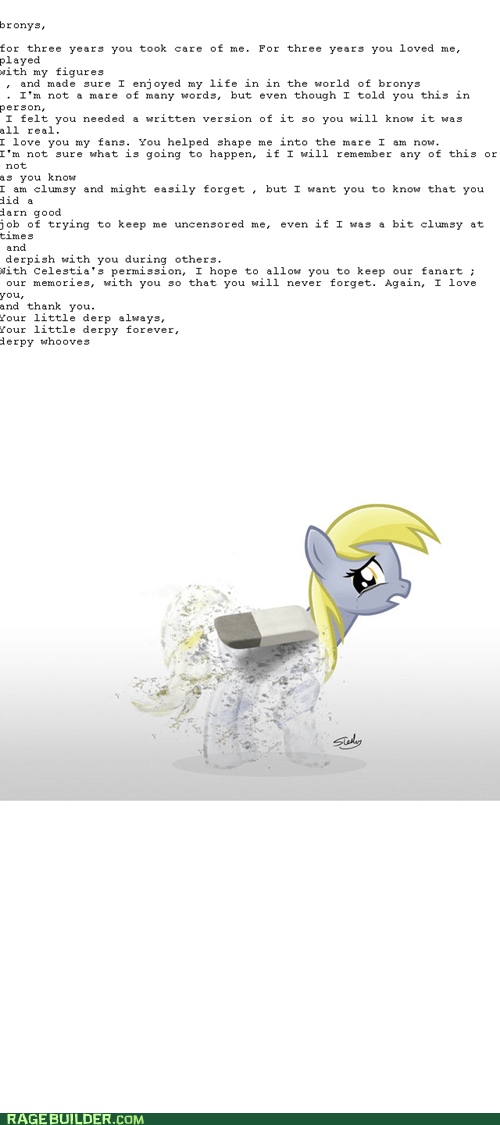 goodbye derpy we love you
