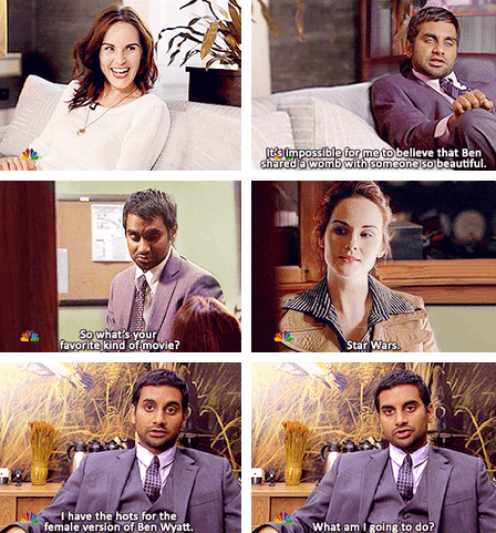 parks and recreation MICHELLE DOCKERY actor aziz ansari NBC TV comic - 7019697664