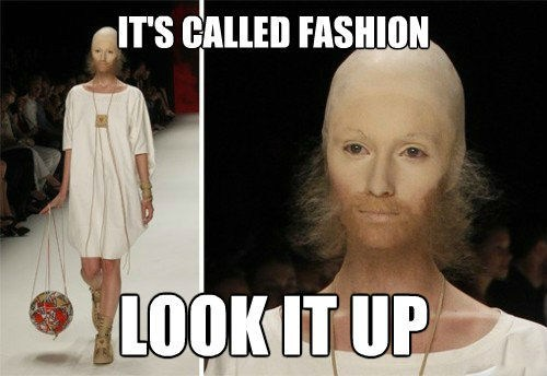 wtf,beard,runway fashion
