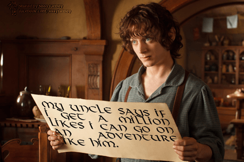 frodo Lord of the Rings facebook signs - 7019803392