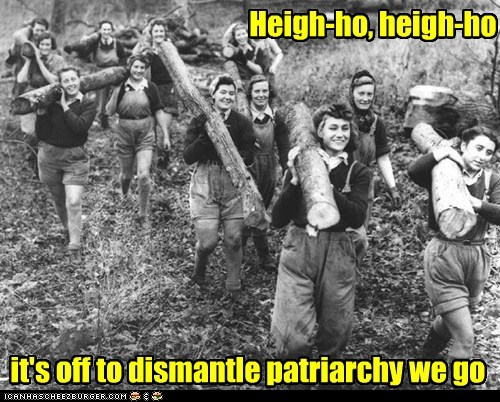 patriarchy,cheerful,work,dismantle,feminists