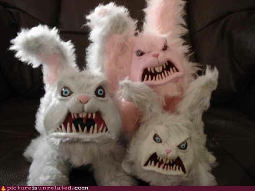 easter bunnies creepy eggs - 7019936512