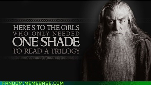 Lord of the Rings,gandalf,50 shades of grey