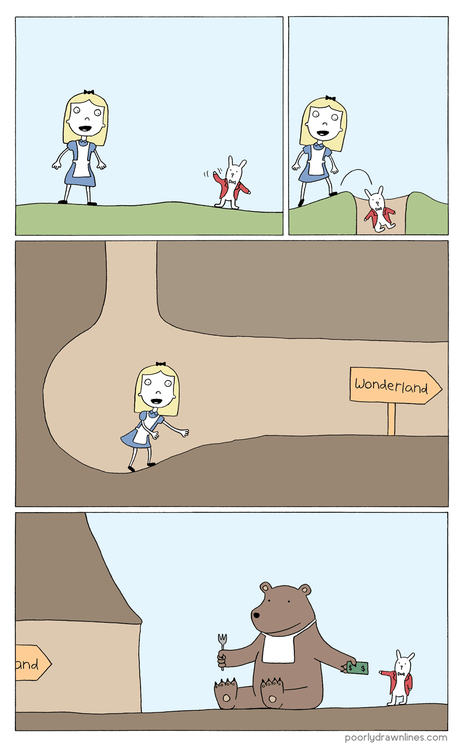 alice in wonderland,comics,bear