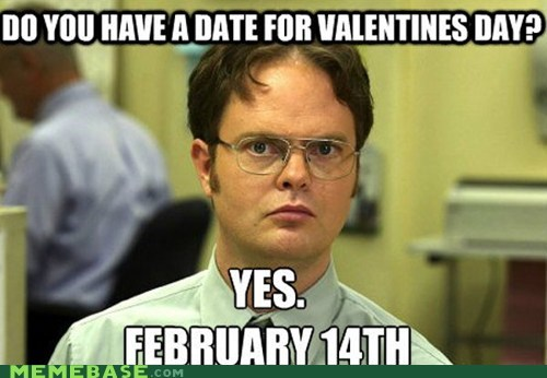 date schrute facts Valentines day - 7020049920