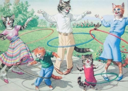 cat cute family hula hoop - 7020118272