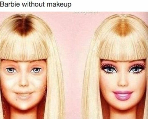Barbie,creepy,make up