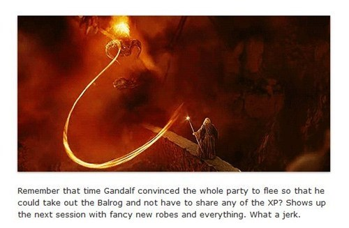 Lord of the Rings,xp,gandalf,Party,balrog,MMORPGs,flee