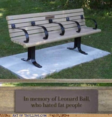 fat people beyond the grave bench - 7020184832